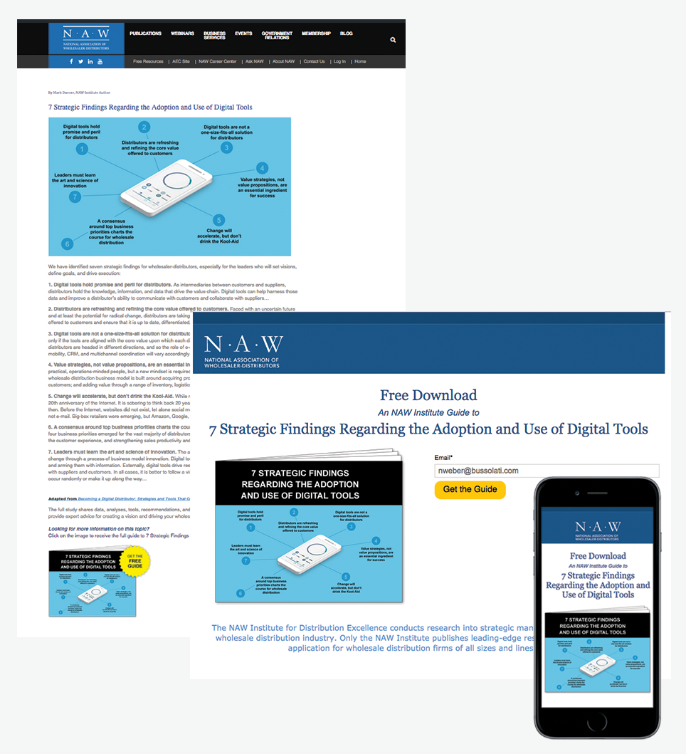 NAW blog post and landing page
